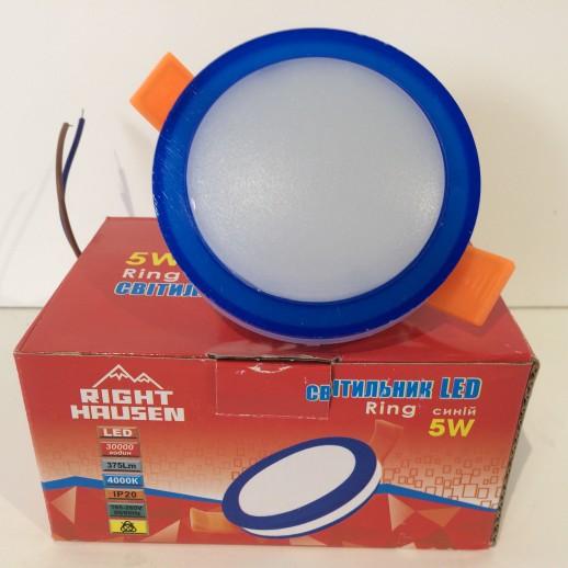 Светильник LED Panel Right Hausen RING 5 Вт потолочный