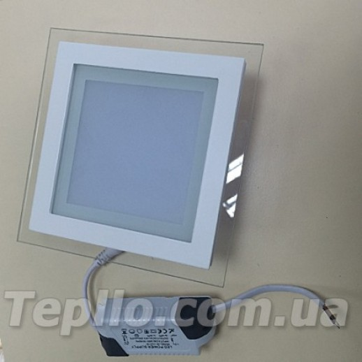 Светильник LED Glass квадрат 18Вт 4000K