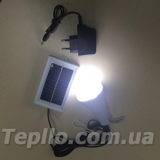 Акумуляторная лампа с зарядкой от солнца