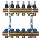 Коллектор Neptun IWS латунь 5 выходов с расходомерами