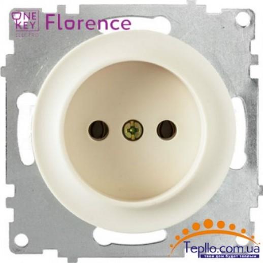 Розетка Florence без заземления бежевая