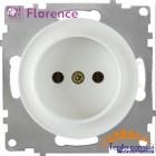 Розетка Florence без заземления белая