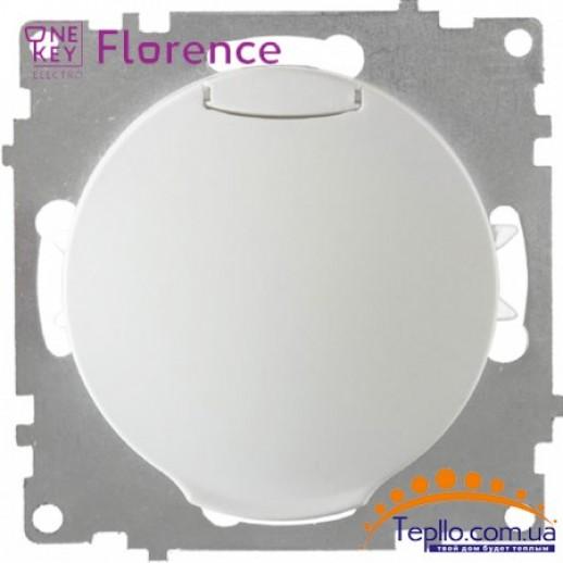 Розетка Florence c заземлением и крышкой белая