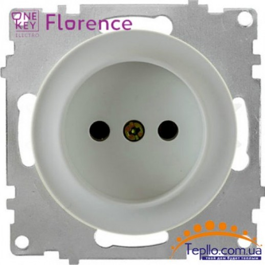 Розетка Florence без заземления серая