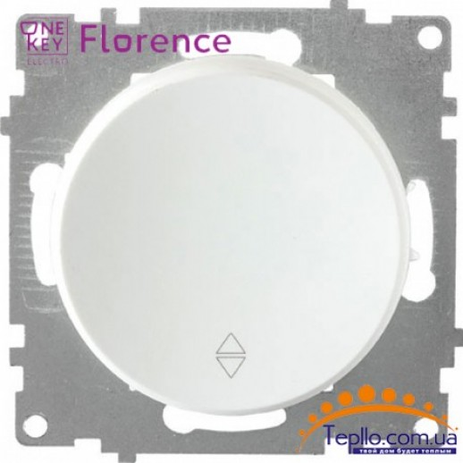 Переключатель одинарный Florence белый