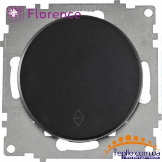 Переключатель одинарный Florence черный