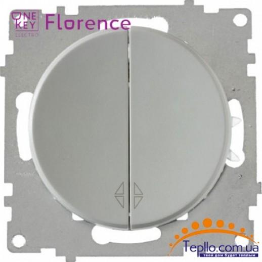 Переключатель двойной Florence серый