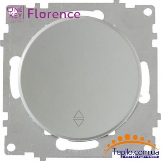 Переключатель одинарный Florence серый