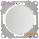Выключатель одинарный Florence белый