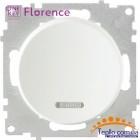 Выключатель одинарный с подсветкой Florence белый