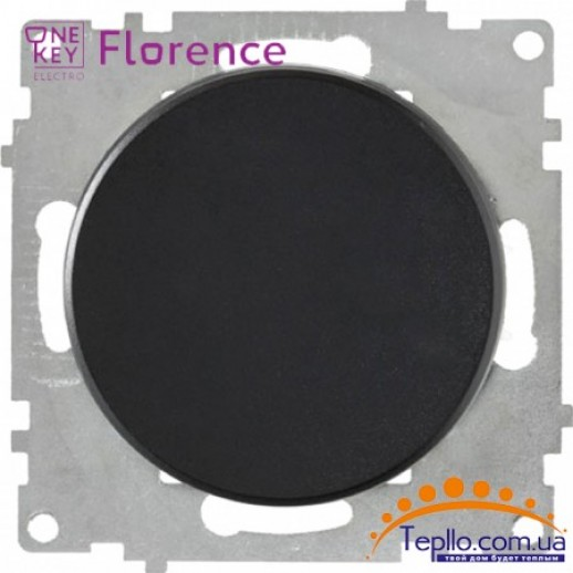 Выключатель одинарный Florence черный