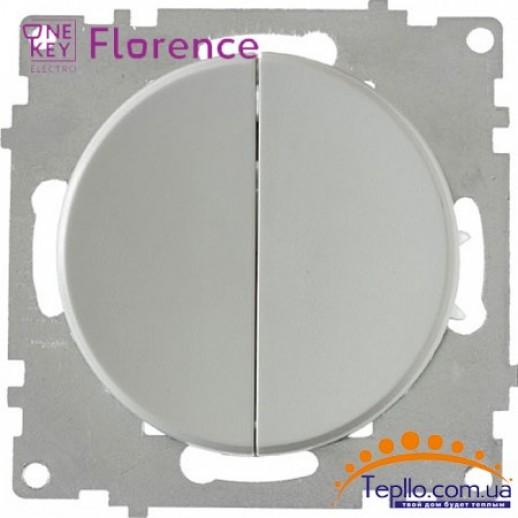 Выключатель двойной Florence серый