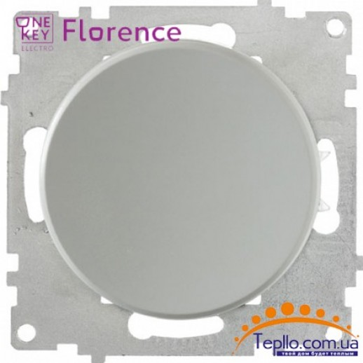 Выключатель одинарный Florence серый