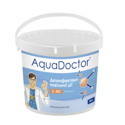 Химия для бассейна длительный хлор AquaDoctor C-90T 50 кг