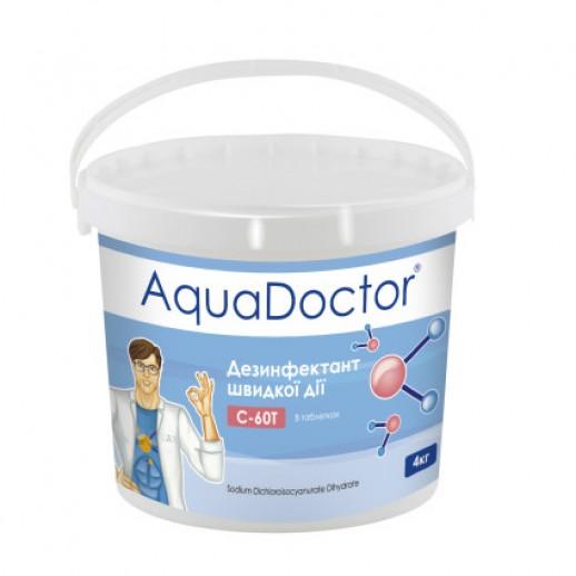 Химия для бассейна шок хлор AquaDoctor C-60T 4 кг в таблетках