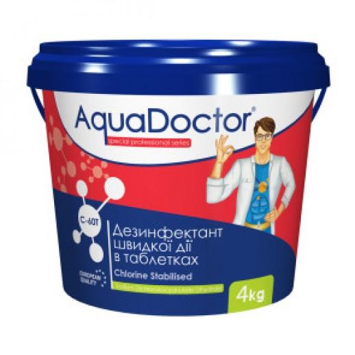 Химия для бассейна шок хлор в таблетках AquaDoctor C-60T 4 кг