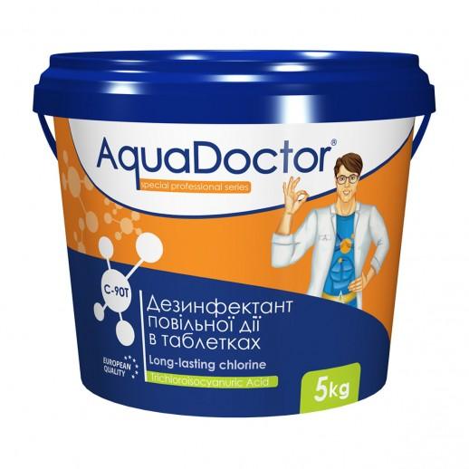 Химия для бассейна длительный хлор AquaDoctor C-90T 5 кг