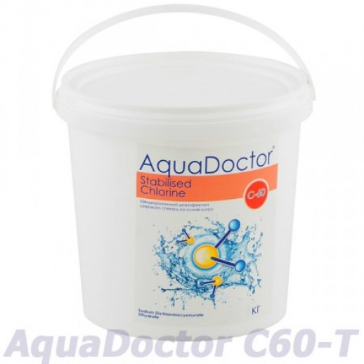 Химия для бассейна шок хлор  С60-Т 4кг в таблетках