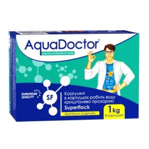 Химия для бассейна коагулирующее средство в картушах AquaDoctor Superflock