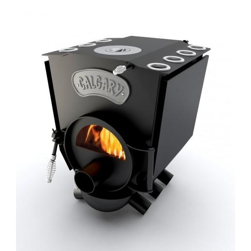 Канадская печь Calgary Lux 7 кВт с конфоркой