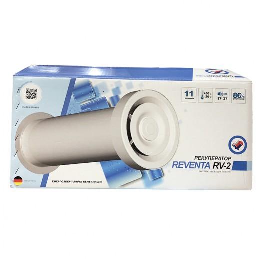 Рекуператор Reventa RV-2 вентиляция воздуха без потери тепла
