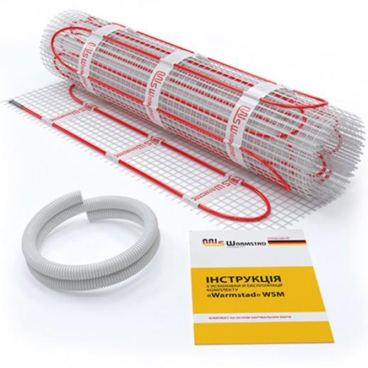 Теплый пол 0,65м2 электрический мат Warmstad WSM100